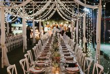 Outdoor weddings reception