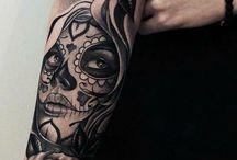 Right arm tattoos