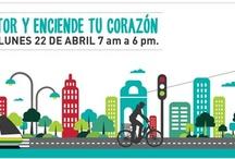 """Día sin carro, Medellín 2013 / """"Apaga el motor y enciende tu corazón"""" El día sin carro 22 de abril de 7:00 am a 6:00 pm"""