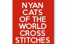 Nyan cats of the world cross stitches and pearler beads