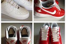 Custom Sneakers / Self painted custom sneakers
