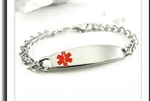 Men's Medical Bracelets / Mens Steel Medical ID Alert Bracelets