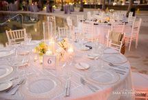 Caroline and Dan Destination Cabo Wedding at PB Pacifica / Beautiful Cabo Wedding at Pacifica Resort. Planning @Infinity Weddings, Floral Design @Florenta Design,  Photography @Sara Richardson.  Navy blue, White and Green Color palette with stripe navy blue and white linens.