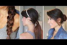 Hair ponytails & braids