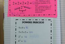 exponents and powers Math (6th Grade) 1.3 (7th)