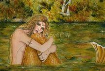 Mermaid art original mermaids / Mermaids created by Renee L. Lavoie mermaid art prints, mermaid original art, mermaid paintings