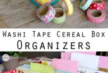 Desk organisation ideas / Washi tape