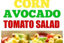 salads- corn and avo