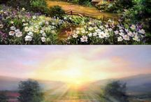 Telas paisagem
