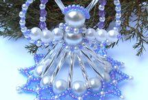 vánoční ozdoby korálkové
