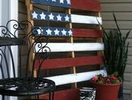 American Flag decor / by Clarine Baker Ellis