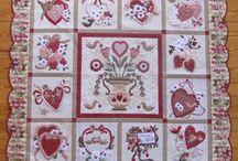 Vintage valentine quilt / by Debby Grice