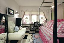 Girls Room Inspirations / girls bedrooms, decorating, interior design, remodeling, themes, paris, barbie, little girls