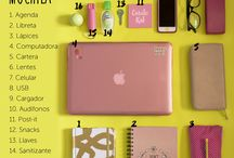 lo que debes tener en tu mochila / distintas ideas para llevar en tu mochila
