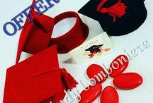 scatoline per confetti cappello di laurea