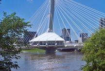 Provencher (Vehicular) & Esplanade Riel (Pedestrian) Bridges - Winnipeg, Manitoba ✯ WinnipegHomes.com