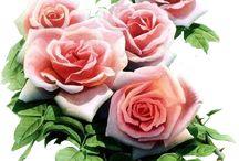 Mensaje con flores.