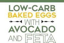 Baked eggs with avocado & fetta