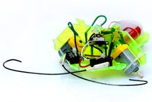 Create Your Own Cockroach Bot / The Cockroach Bot is the simplest TRUE robot you can build. Assemble it together, then watch it zoom and smartly bounce off things in it's way! No micro-controllers, ICs, or transistors are used – just two switches wired cleverly together form the brains of this robot.