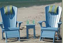 Ecoutemöbler / Eco utemöbler tillverkade i 100% återvunnen plast. UV-beständiga 10 års garanti