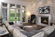 Brick Slips - Living Room Inspiration / Living Room Inspiration
