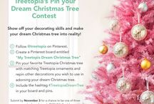 """Pin Your Dream Christmas Tree / Pin your way to win one of three $150 Gift Cards from Treetopia! Create a """"My Treetopia Dream Tree"""" board on Pinterest, pin your favorite Treetopia Christmas trees, accessories and other decorations that inspire you to create your dream Christmas tree!"""