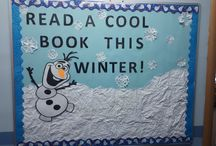 Library bulletin boards / I have been inspired by others to create these for our library bulletin board.