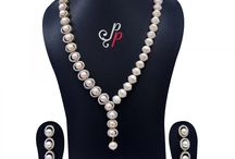 Designer Pearl Necklace in Pink Pearls at Rs. 4,400
