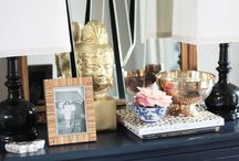 Interior Design: Styling Vignettes / Pretty styling vignettes.