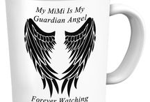 Mimi Guardian Angel / Mimi Guardian Angel - Pendants, T-Shirts, Coffee Mugs, Necklaces, Bracelets, Hoodies.  Men's and Women's - All Colors, Sizes and Styles available / by Designs by Cali Kays