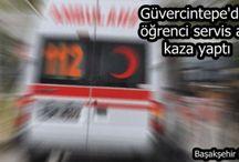 Kayaşehir İmam Hatip Lisesi servis aracı Güvercintepe'de kaza yaptı.