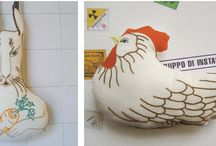 Pillows from Gruppo di Installazione / pillows and characters