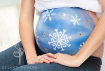 Pregnant belly paint