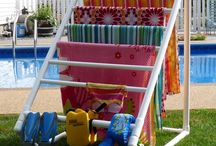 Outdoor Towel Racks