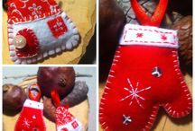 Christmas   felt  ( my work)