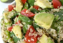 The Garden Grazer: Quinoa Avocado Spinach Power Salad