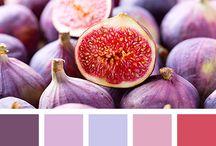 Красный и фиолет
