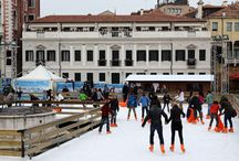 Pattinare a Venezia e a Mestre / Pieste di vero ghiaccio nel periodo invernale a #Venezia e a #Mestre