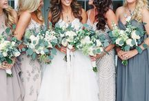 BRIDESMAID DRESSES - ALL different dresses! / Bridesmaids in different dresses, colours and styles...