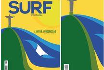 Capa Revista Surf Portugal / Arte feita para capa da revista Surf Portugal, edição especial sobre o surf brasileiro. / by Tom Veiga