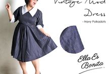 2015 - Vintage Mod Dress / Mod dress which specially designed for sophisticated curvy women originally made by Indonesian Designer & Local Brand: Ella Es Bonita.