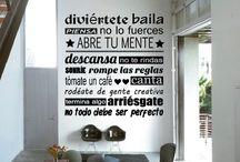 Arte frases para decorar pared