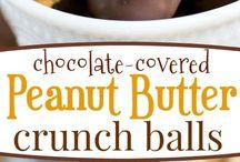 Peanut butter crunch balls