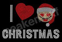 Christmas Rhinestone Transfer / Christmas Rhinestone Transfer
