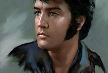 malovaný Elvis