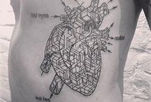 Geometrical tattoo.