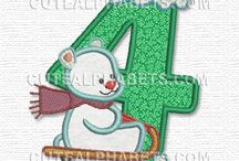 Embroidery Single Letters or Numbers / by Peggy Aull