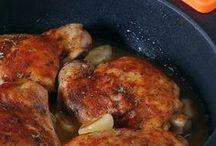 pollo al horno con salsa de ajo