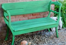 Creative Seating / Creative ways to provide seating in the garden