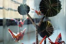 Origami no vidro